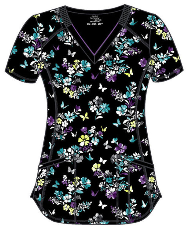Picture of CK634 - V-Neck Print Top